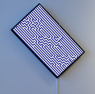 Tim Roseborough Seven Words On A Television, 2015 Single-channel video; 35 second loop