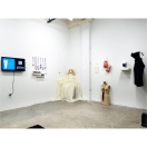 Installation view of What Nasty Women Wear at Black & White Projects, 2016